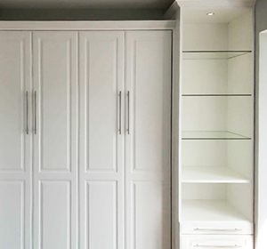 Slanted Shelves with Stoppers - Beyond Storage Closets & Pantries