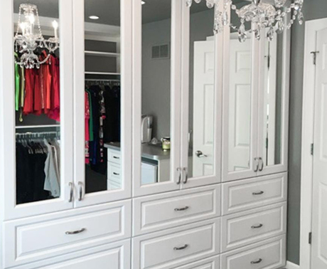 Incorporate A Fixed Mirror On The Wall Over Countertop And Dresser Or Check Your Look Without Using Up Valuable Space By Choosing Our Pull Out